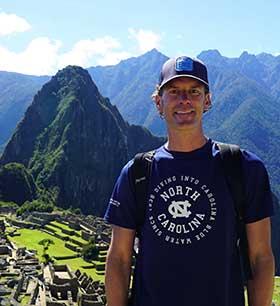 John at Machu Picchu